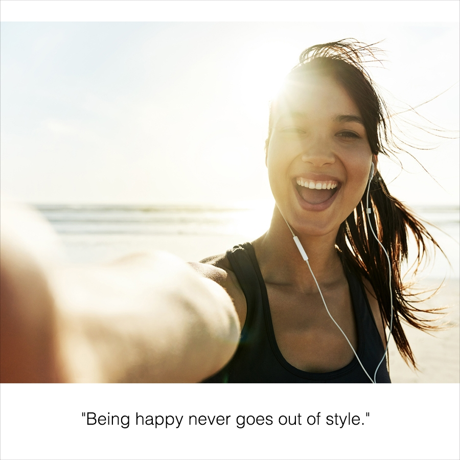 Caption for a selfie of a girl at the beach.