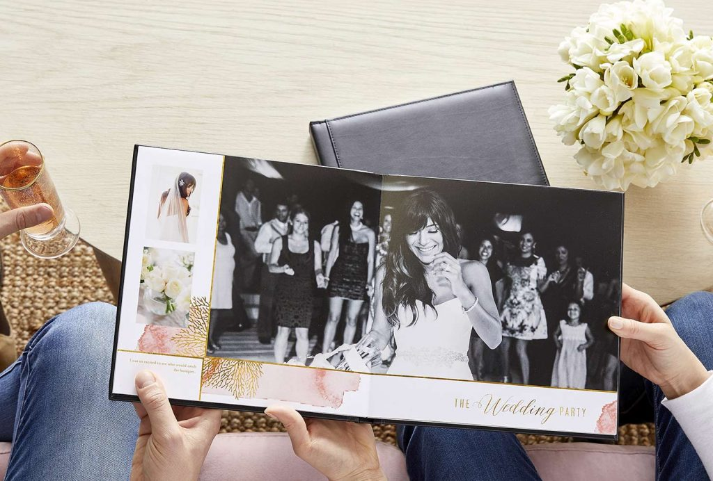 custom and personalized photo book with wedding pictures