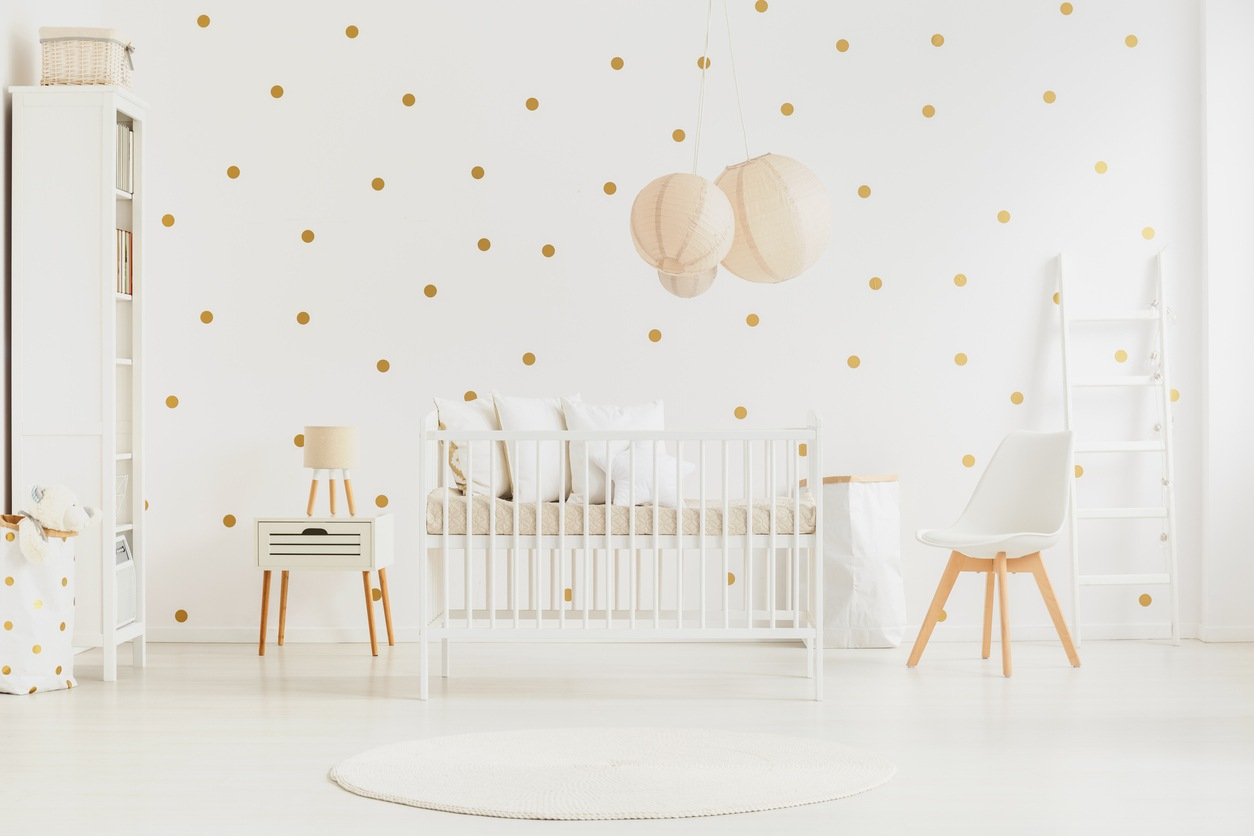 polka dot nursery room