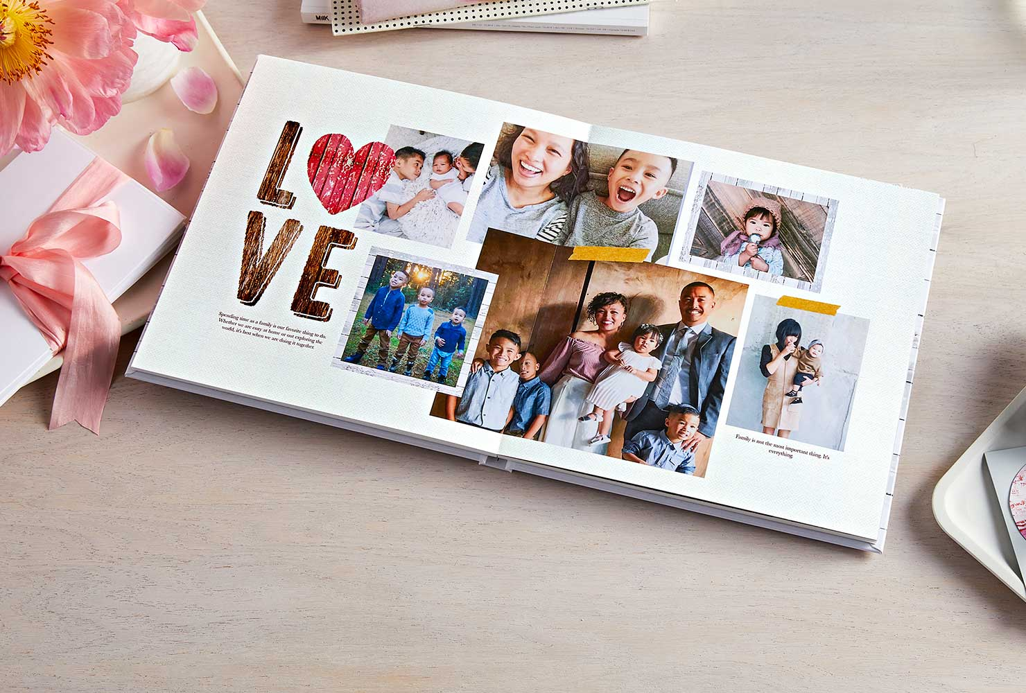 family themed layflat custom photobook