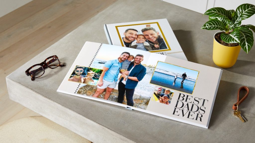 best dads photo book in a square photo book and layflat design