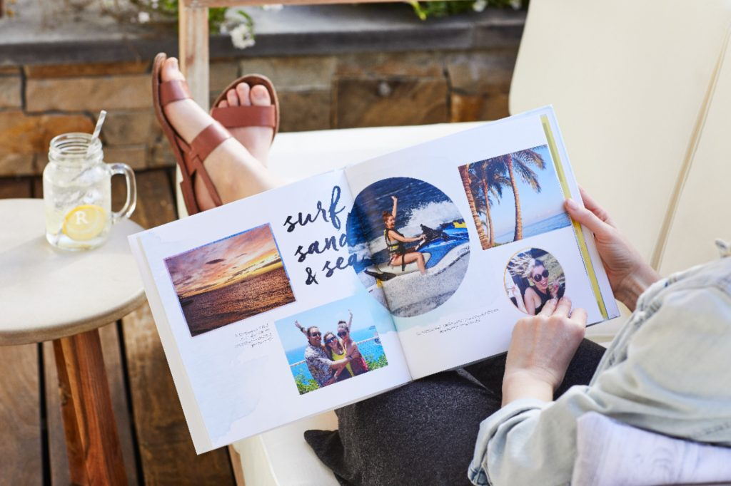 photo book with pictures of vacations