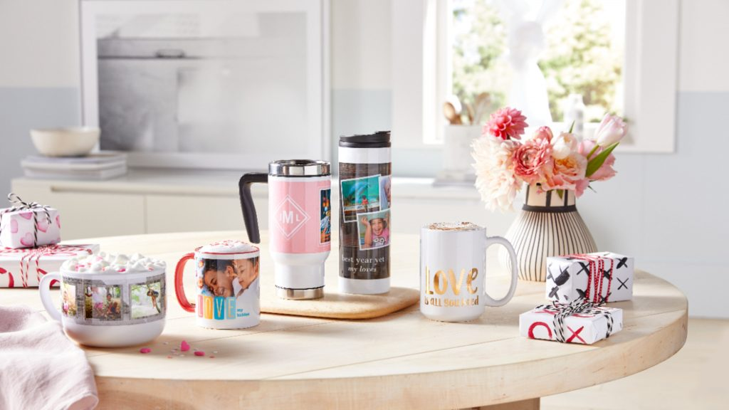 photo mug and travel tumbler for valentine's day gift