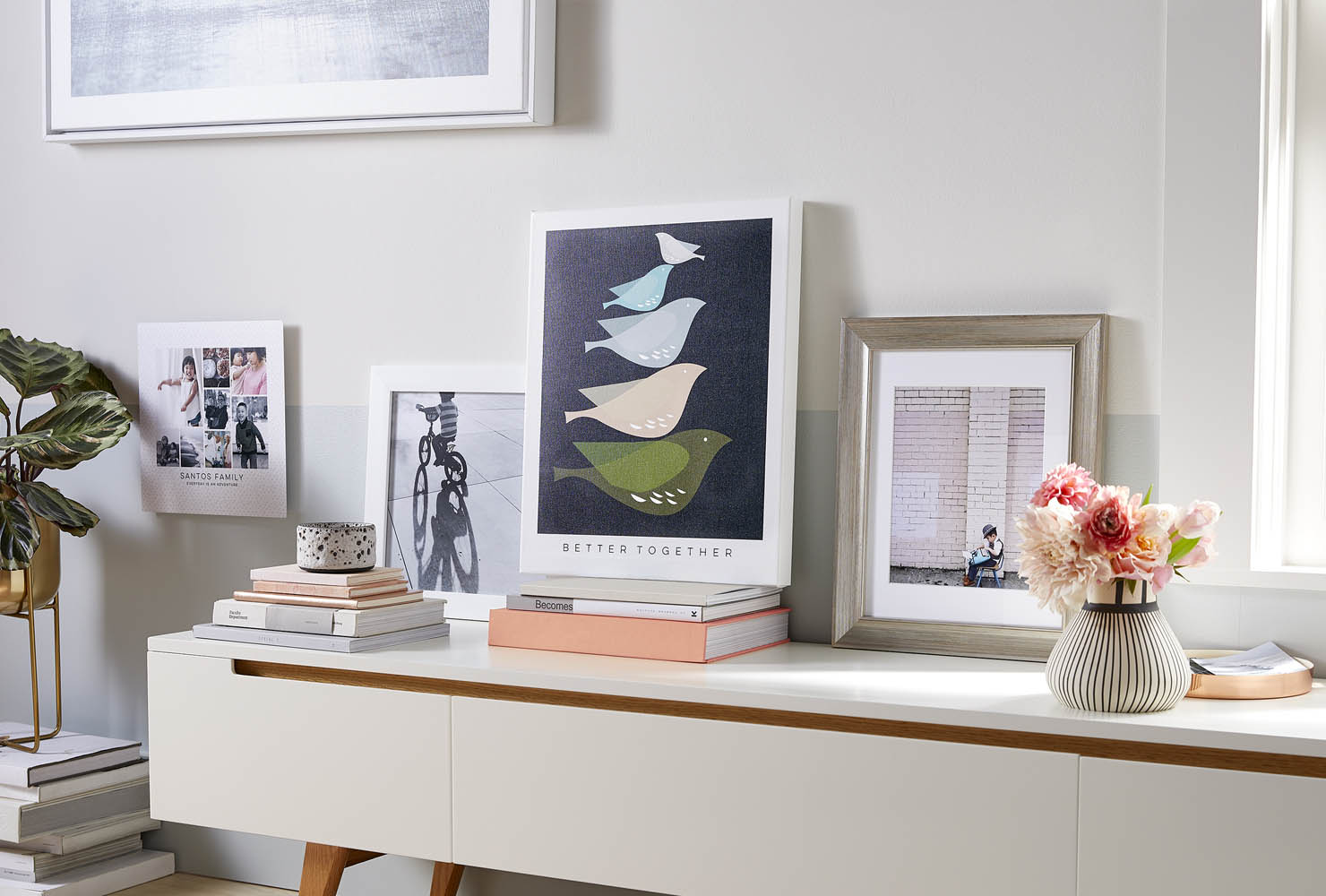 Canvas and framed prints.