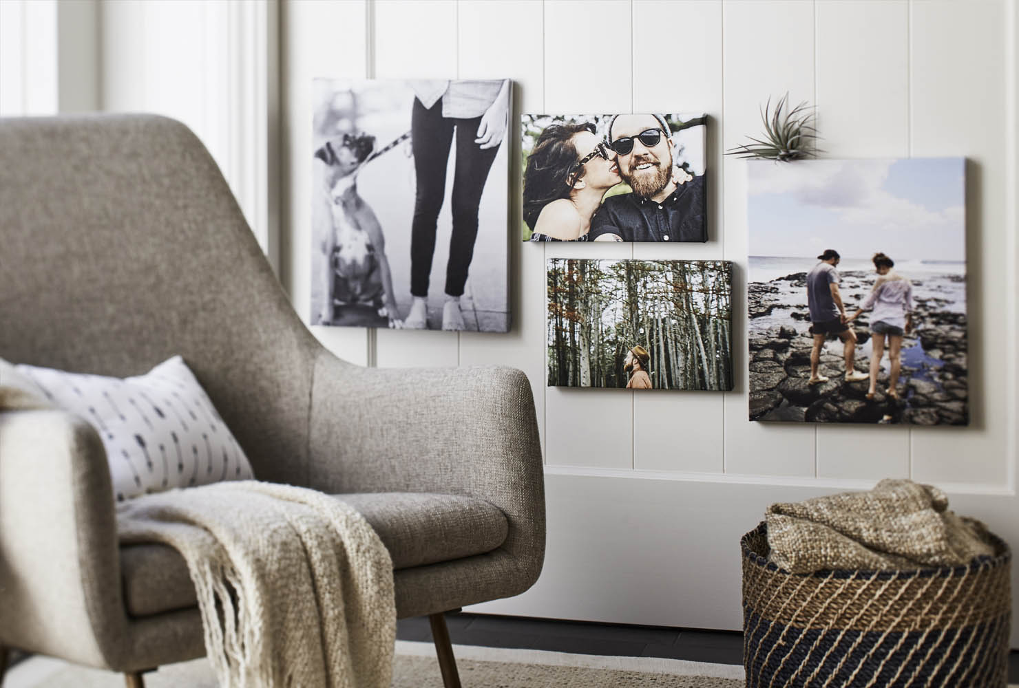 canvas prints and wall art in gallery wall