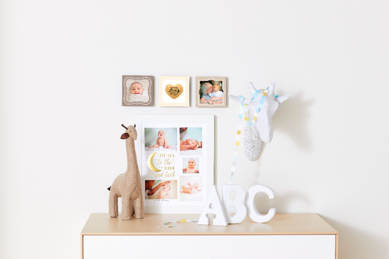 baby wall art in nursery