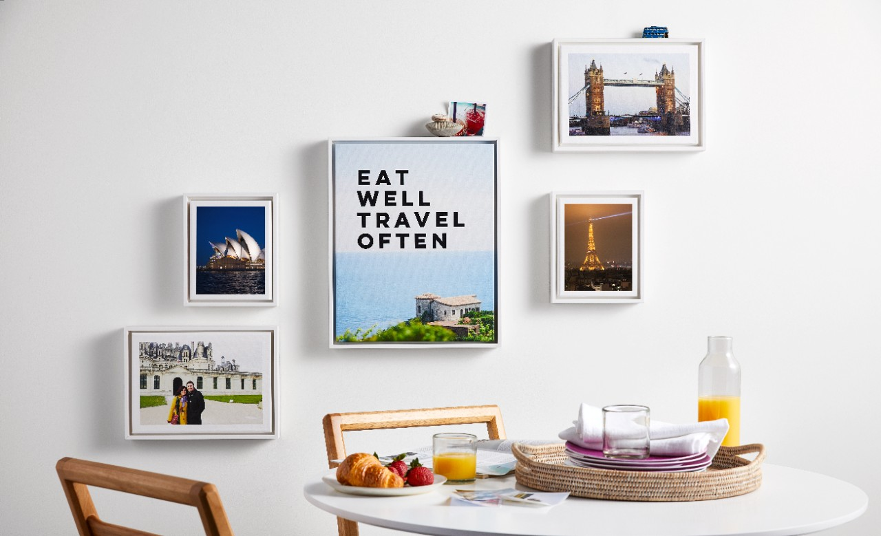 framed canvas prints eat well travel often