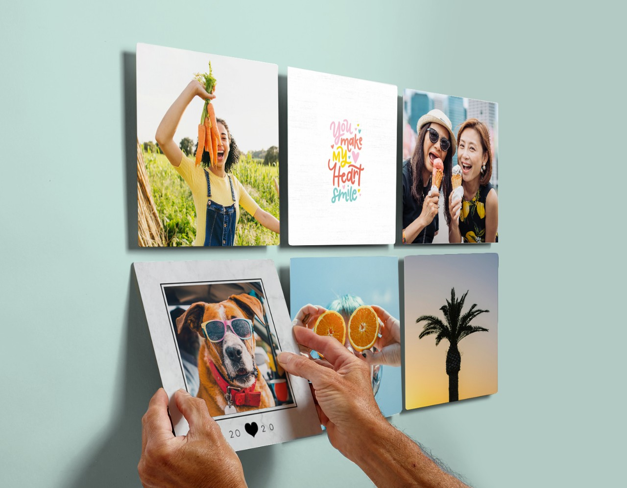 stickable picture tiles stick and restick photos on any wall