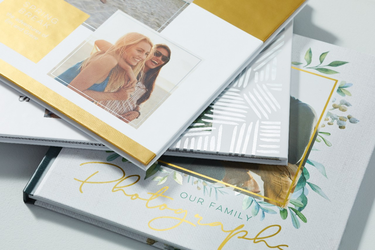 group of shutterfly photo books