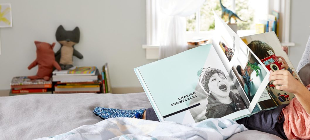 boy with photo book