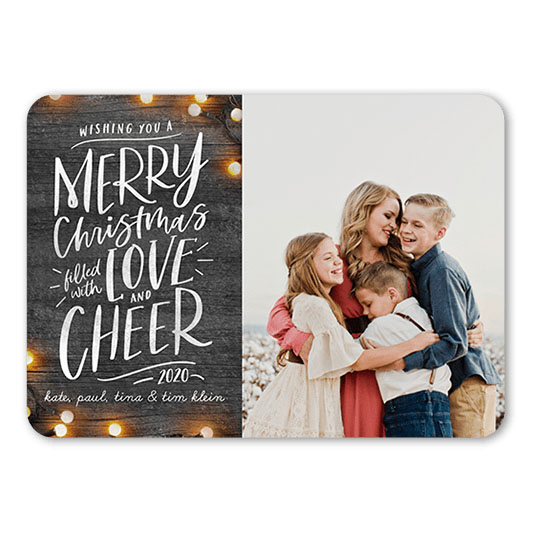 Vivid Delight Holiday Card with rustic design