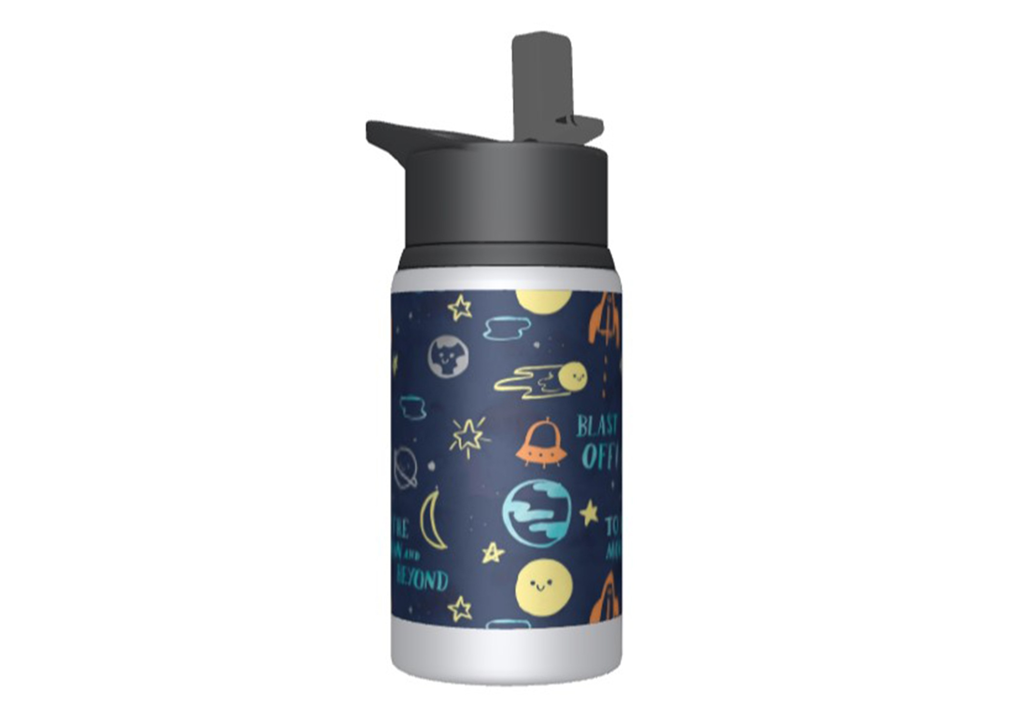 Custom kids water bottle with a kids design from the art library