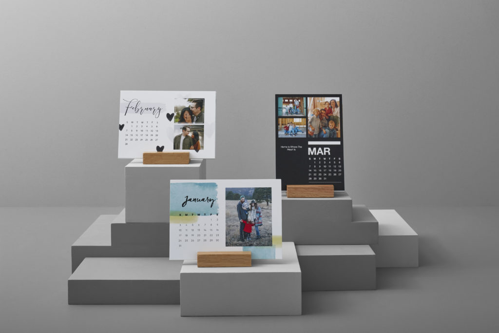 Different desk calendars with different styles and months