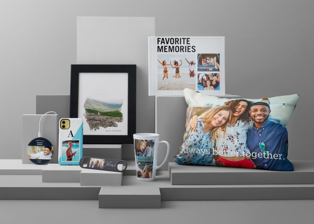 Personalized gifts, photo prints, and wall art made from uploaded stored photos