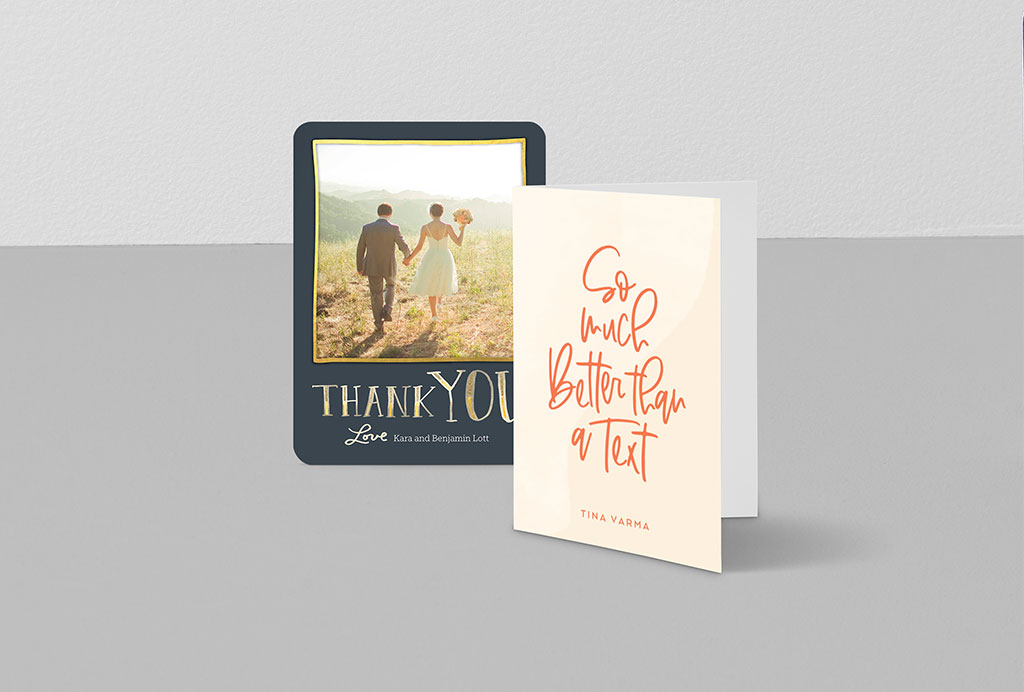 Custom thank you cards for all occasions
