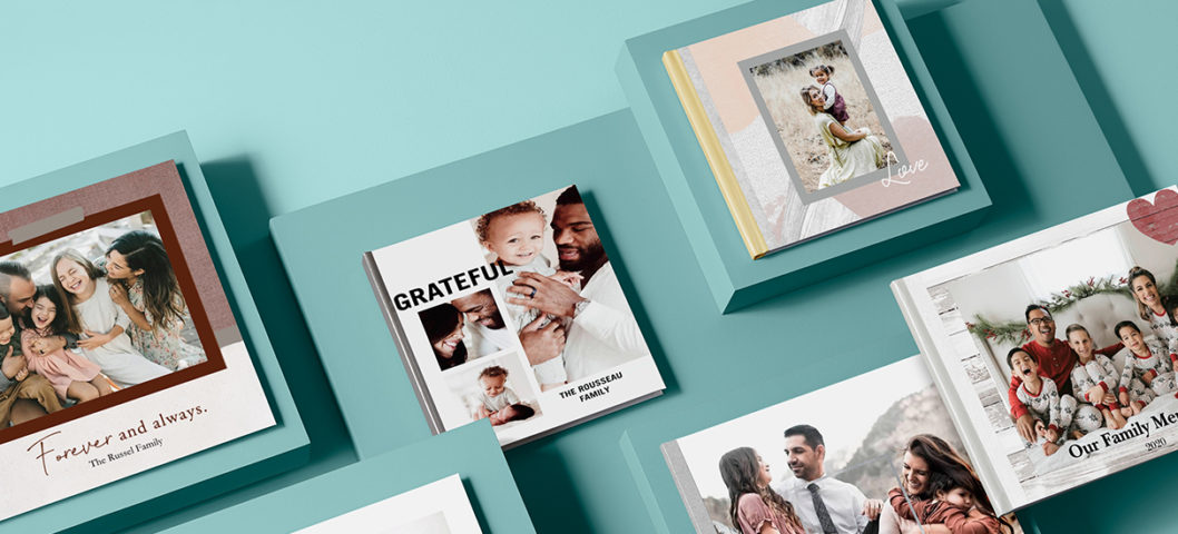 personalized photo book year in review style