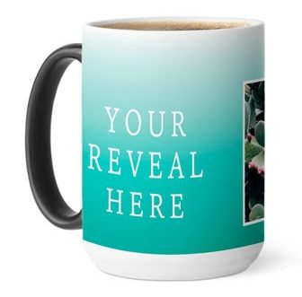 Color changing photo mug that comes in different colors and styles