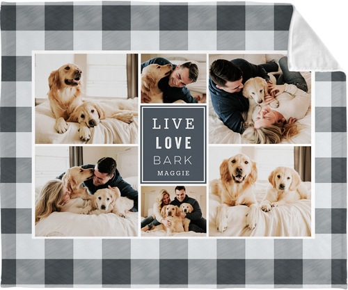 best in show buffalo plaid collage fleece photo blanket for fathers day present